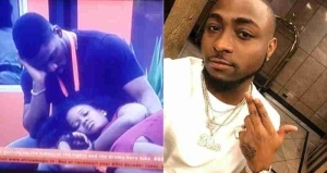 Davido's Reaction To Tobi's Obsession With Cee-C On BBNaija Show (Pics)
